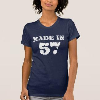 En 1957 chemise faite t-shirt
