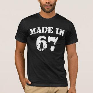 En 1967 chemise faite t-shirt