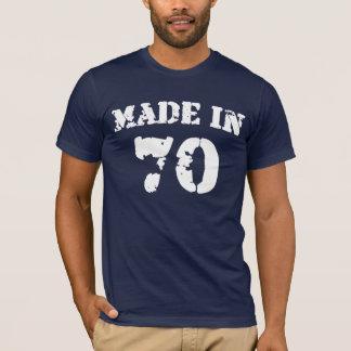 En 1970 chemise faite t-shirt