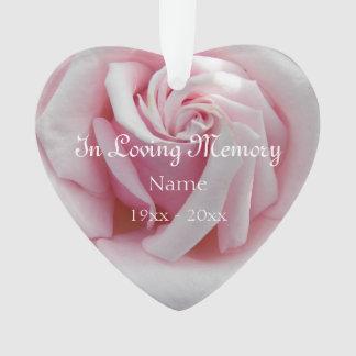 En acrylique affectueux de rose de rose de mémoire