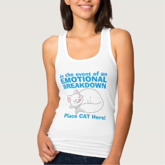 En cas du T-shirt de chat de panne émotive