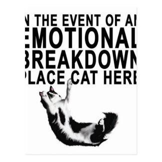 En cas d'un CAT d'endroit de PANNE ÉMOTIVE Carte Postale