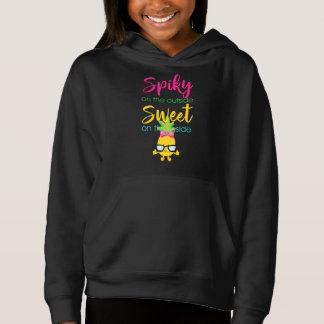 En épi sur à extérieur de bonbon le sweatshirt