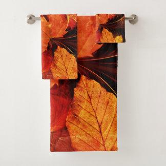 En feu avec de belles couleurs d'automne de