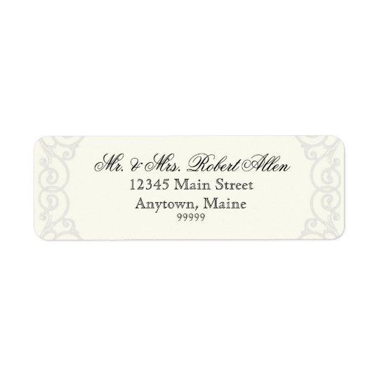 En filigrane d'or, gris - - étiquettes de adresse