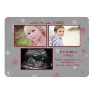 En het Baby maakt de Zwangerschap Announcemen van Kaart