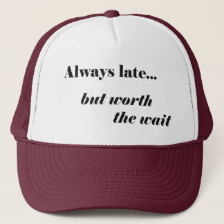 En retard en valeur lui casquette de camionneur