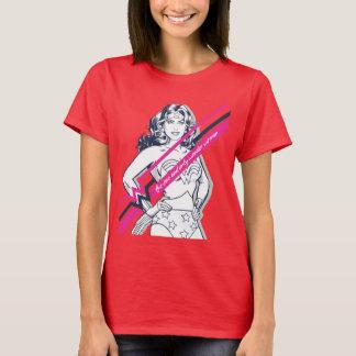 en slechts Wonder Retro Grafisch van Woman T Shirt