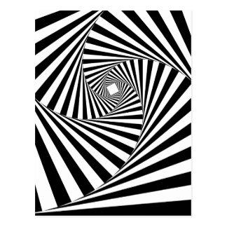 ~ EN SPIRALE de TUNNEL (une conception noire et Carte Postale