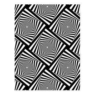 ~ EN SPIRALE de TUNNEL (une conception noire et Cartes Postales