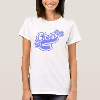 Encouragez dans le bleu avec le T-shirt de fleurs