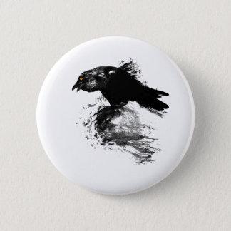 Encre Raven Badge Rond 5 Cm