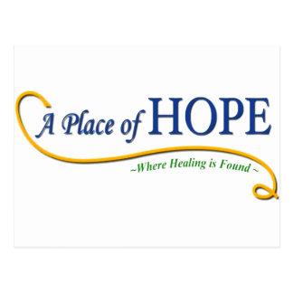 Endroit de logo d'espoir carte postale