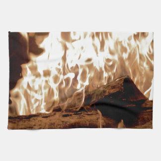Endroit du feu linge de cuisine