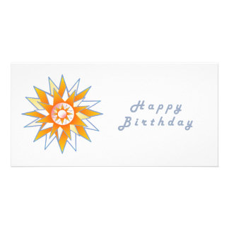 Énergie Chakra de Sun de joyeux anniversaire Carte Avec Photo
