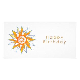 Énergie Chakra de Sun de joyeux anniversaire Photocarte