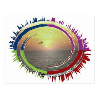 Énergie de Sun - force de la vie pour les êtres Carte Postale