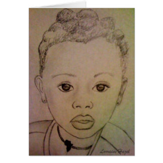 Enfant africain - carte pour notes vivant d'espoir