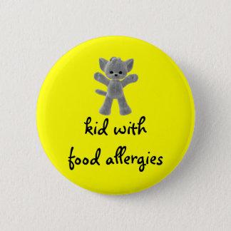 Enfant avec des allergies alimentaires badge rond 5 cm