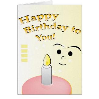Enfant d'anniversaire carte de vœux