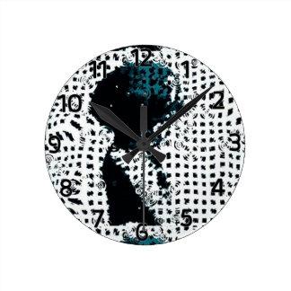 Enfant dans l'horloge murale d'art de bruit de horloge ronde