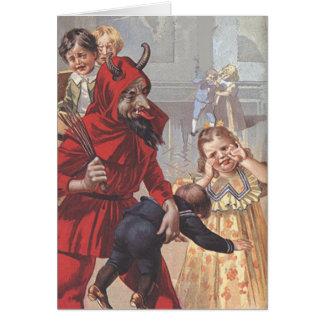 Enfant de fessée de Krampus Carte