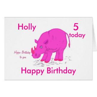 Enfant, fille, anniversaire carte de vœux