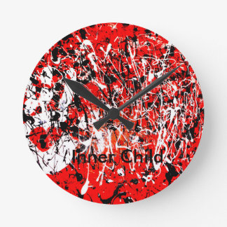 Enfant intérieur horloge ronde