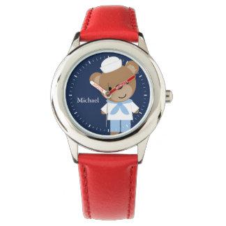 Enfant personnalisé par ours de marin montres bracelet