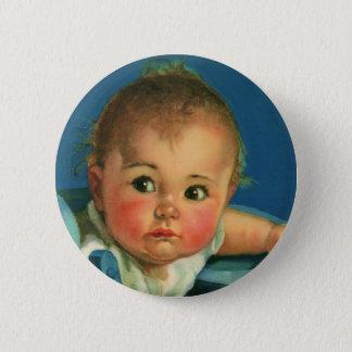 Enfant vintage, bébé mignon ou fille dans le badge rond 5 cm