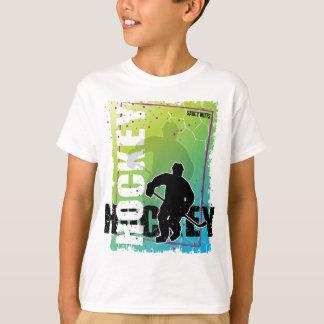 Enfants abstraits de la jeunesse d'hockey t-shirt