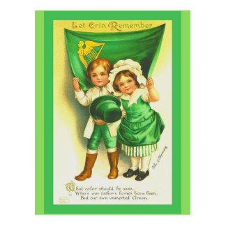 Enfants de cru de carte postale du jour de St