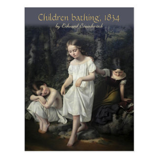 Enfants d'Eduard Steinbrück baignant la carte