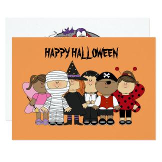 Enfants heureux de Halloween Carton D'invitation 12,7 Cm X 17,78 Cm