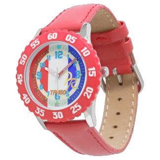 Enfants marins de sports aquatiques d'alphabet de montres bracelet