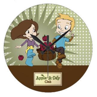 Enfants mignons - Apple - un club de jour ! Grande Horloge Ronde