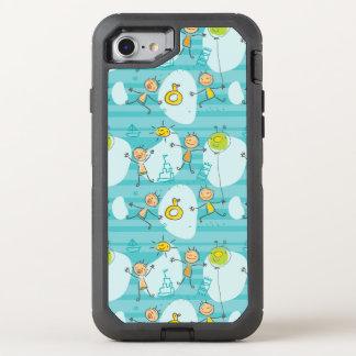 Enfants mignons jouant sur le motif de plage coque OtterBox defender iPhone 8/7