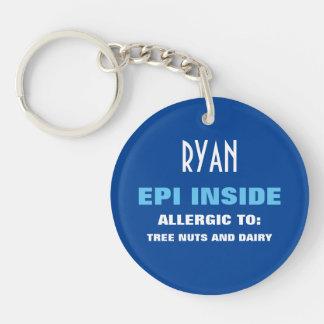 Enfants personnalisables d'alerte d'allergie porte-clés