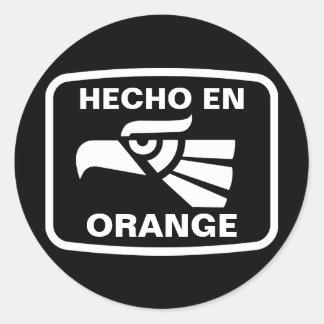 Engelse Oranje gepersonaliseerde Ronde Sticker
