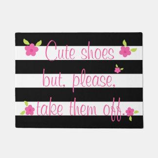 Enlevez votre natte barrée par chaussures paillasson