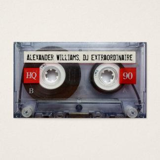 Enregistreur à cassettes Extraordinaire du DJ Cartes De Visite