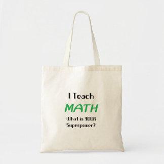 Enseignez les maths sac en toile budget