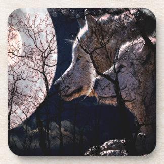 Ensemble abstrait de dessous de verre d'arbre de