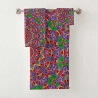 Ensemble coloré de serviette de salle de bains de