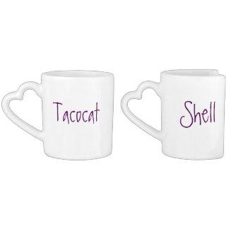 ensemble de la tasse du couple de tacocat et de