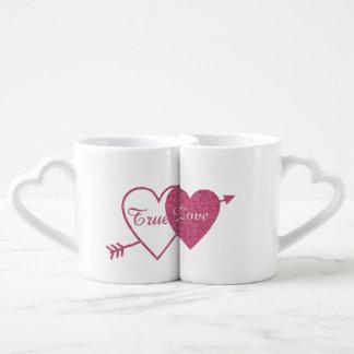 Ensemble de la tasse du véritable couple d'amour