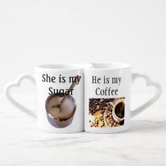 Ensemble de tasse de café de couples