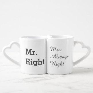 Ensemble drôle de tasse de couples
