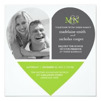 Ensemble fait sur commande de mariage de photo de carton d'invitation  13,33 cm