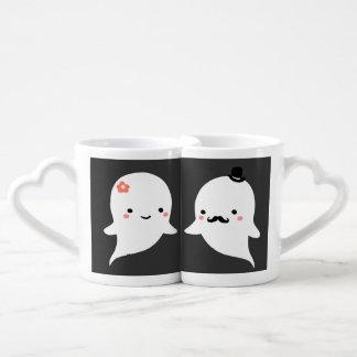 Ensemble fantôme mignon pour toujours personnalisé lot de mugs